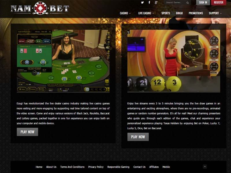 Casino preview image Nambet Casino