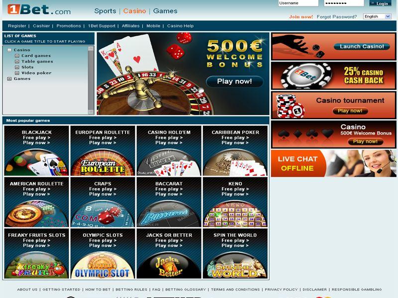 Casino preview image 1Bet Casino