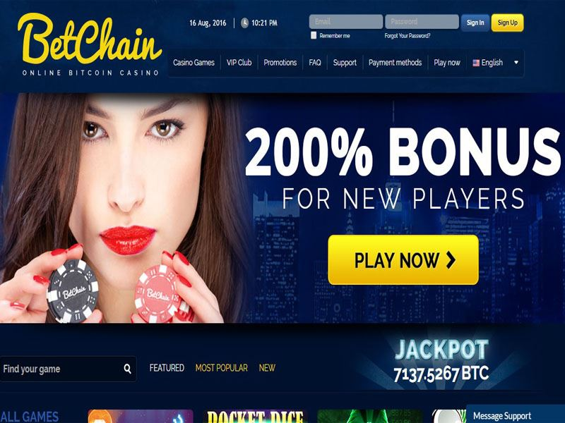 Casino preview image Betchain Casino
