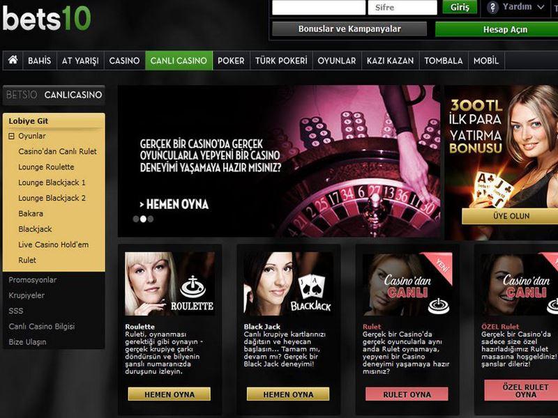 Casino preview image Bets10 Casino