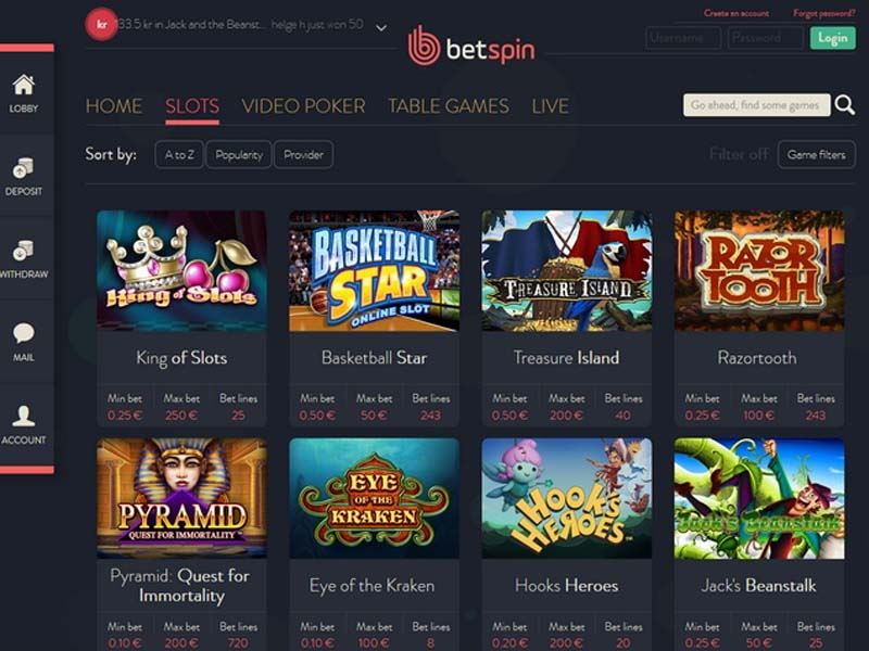 Casino preview image BetSpin Casino