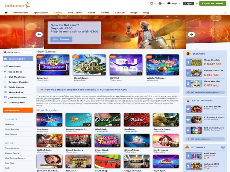 Casino preview image Betsson Casino