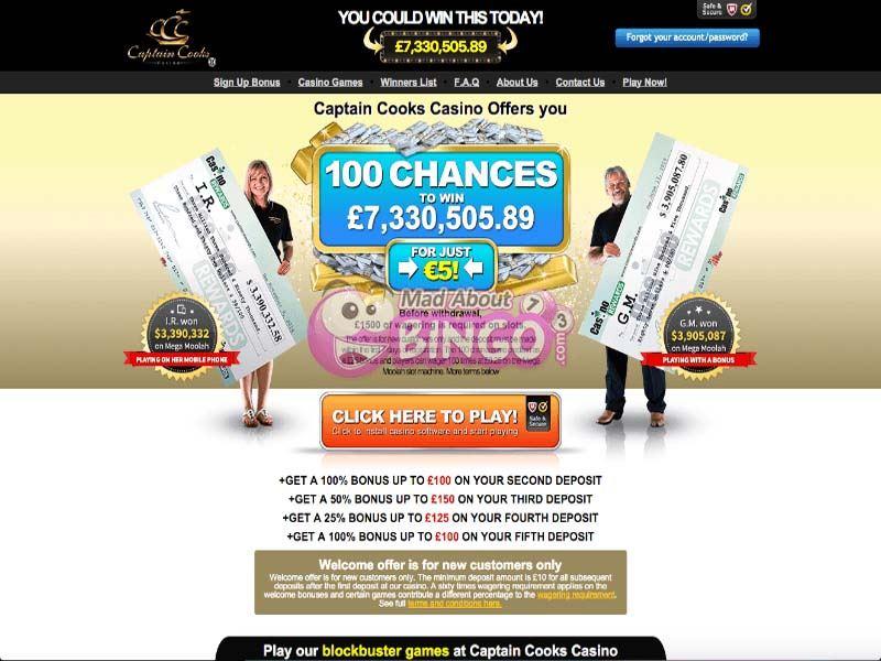 Casino preview image Captain Cook's Casino