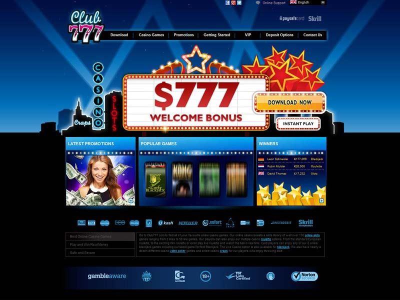 Casino preview image Club777 Casino