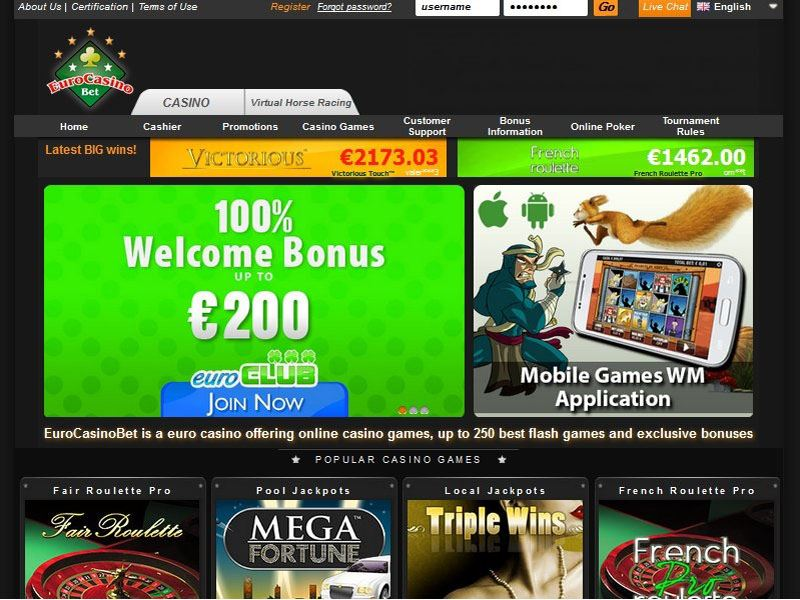 Casino preview image EuroCasinoBet