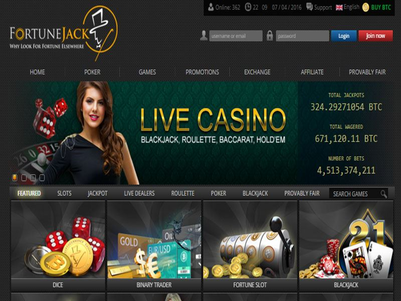 Casino preview image FortuneJack Casino