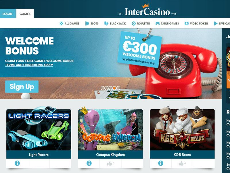 Casino preview image InterCasino