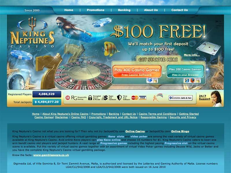 Casino preview image King Neptune's Casino