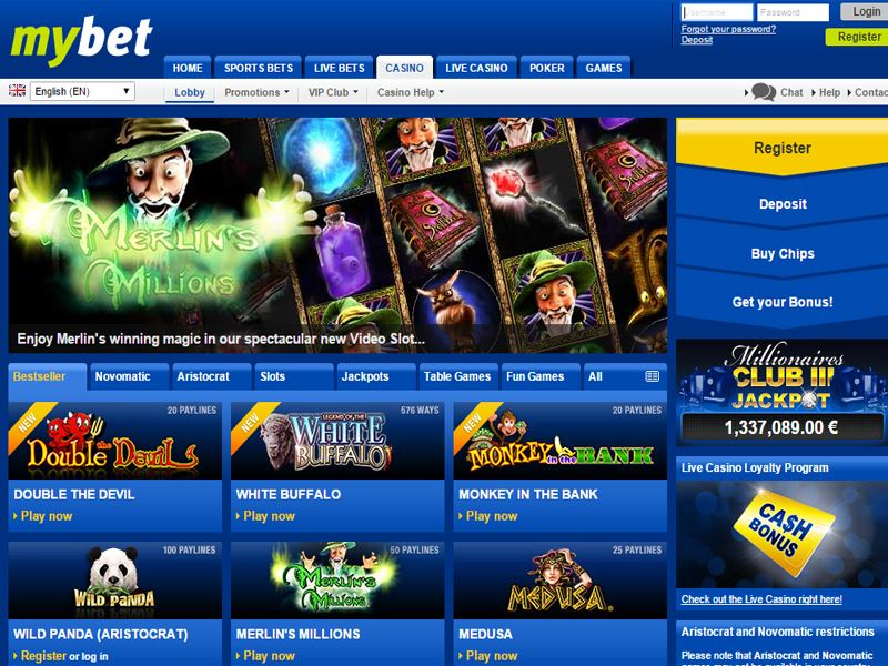 Casino preview image MyBet Casino