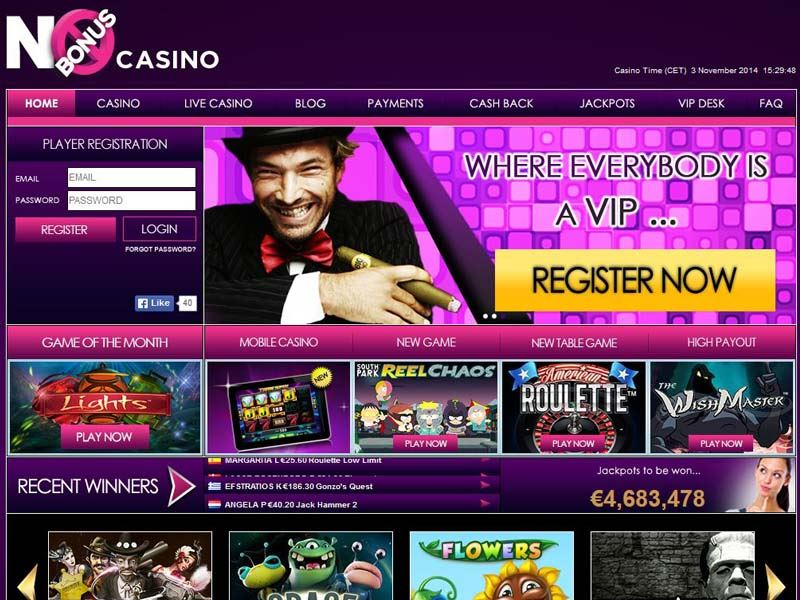 Casino preview image No Bonus Casino
