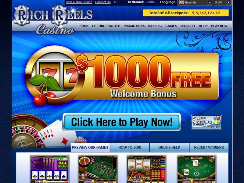 Casino preview image Rich Reels Casino