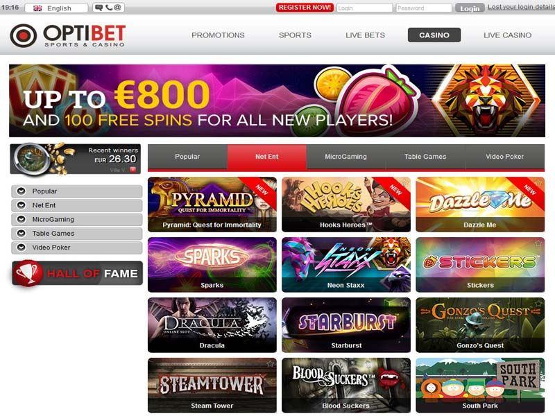 Casino preview image Optibet Casino