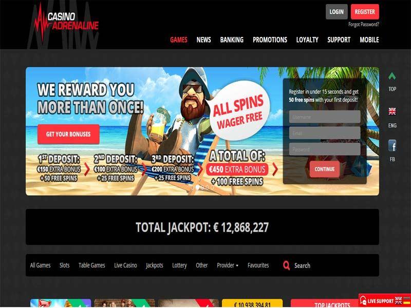 Casino preview image Casino Adrenaline