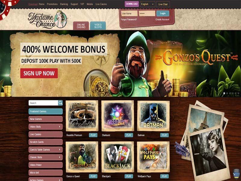 Casino preview image Madame Chance Casino