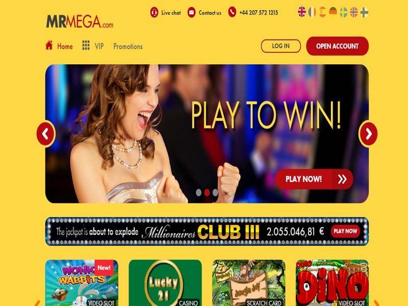 Casino preview image Mr Mega Casino
