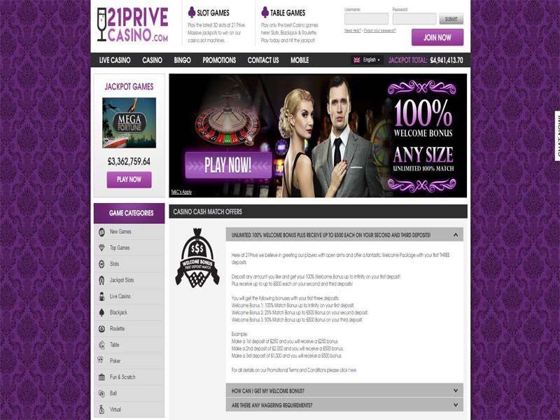Casino preview image 21 Prive Casino