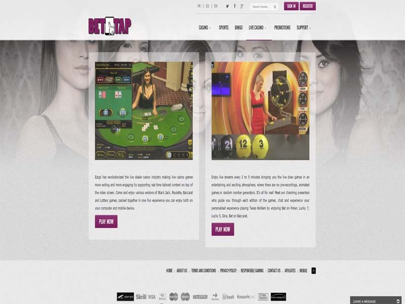 Casino preview image BetTap Casino