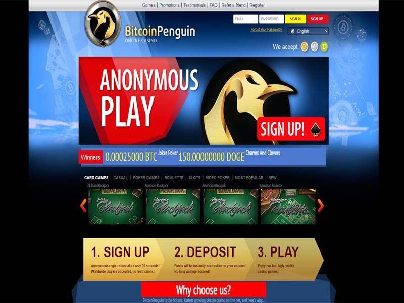 Casino preview image BitcoinPenguin Casino