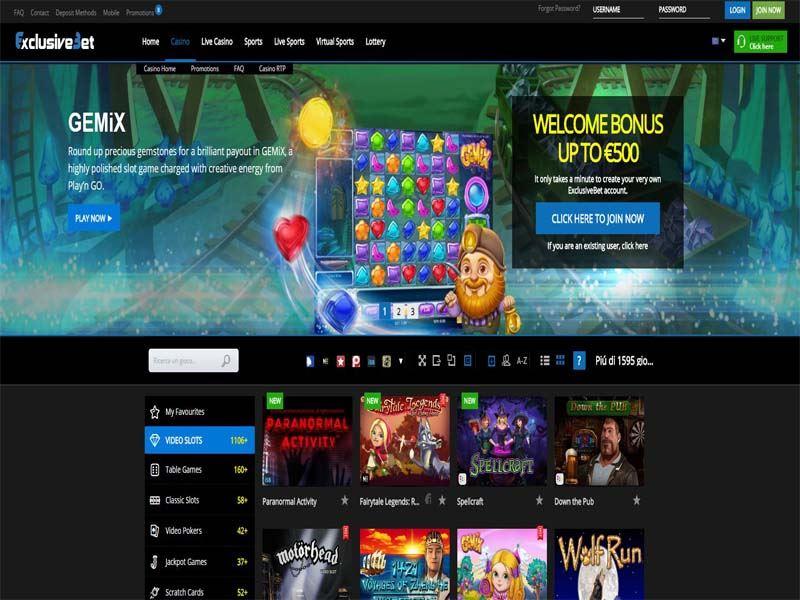 Casino preview image ExclusiveBet Casino