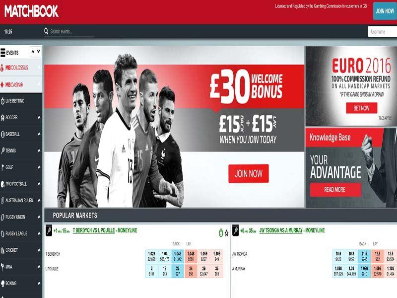 Casino preview image Matchbook Casino
