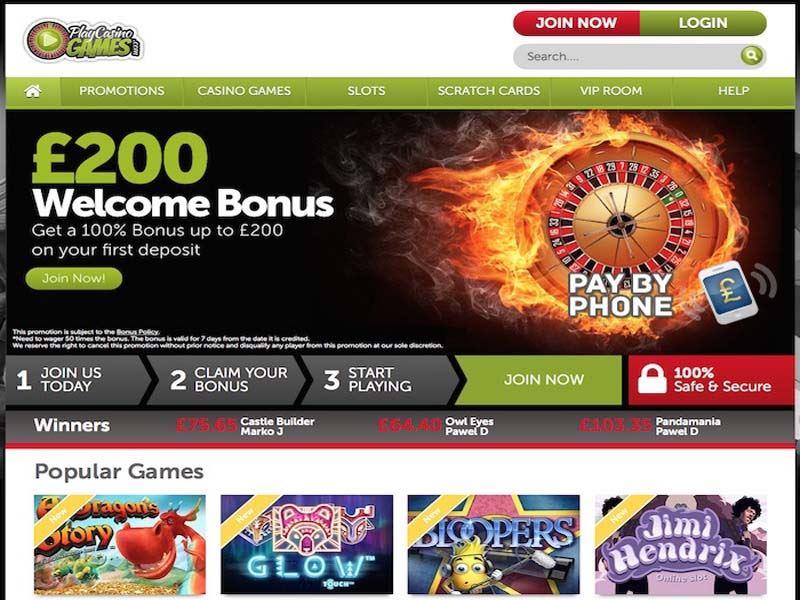 Casino preview image PlayCasinoGames Casino