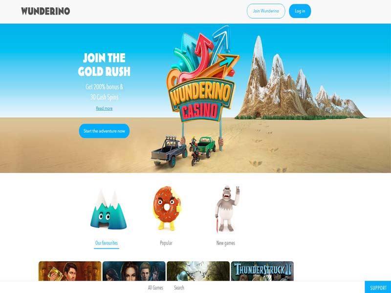 Casino preview image Wunderino Casino