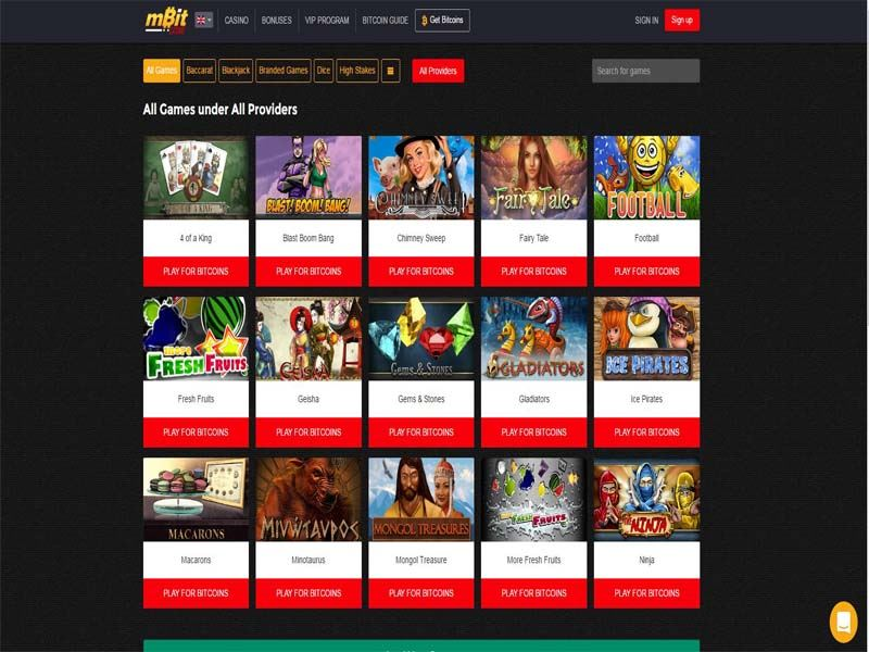 Casino preview image mBit Casino