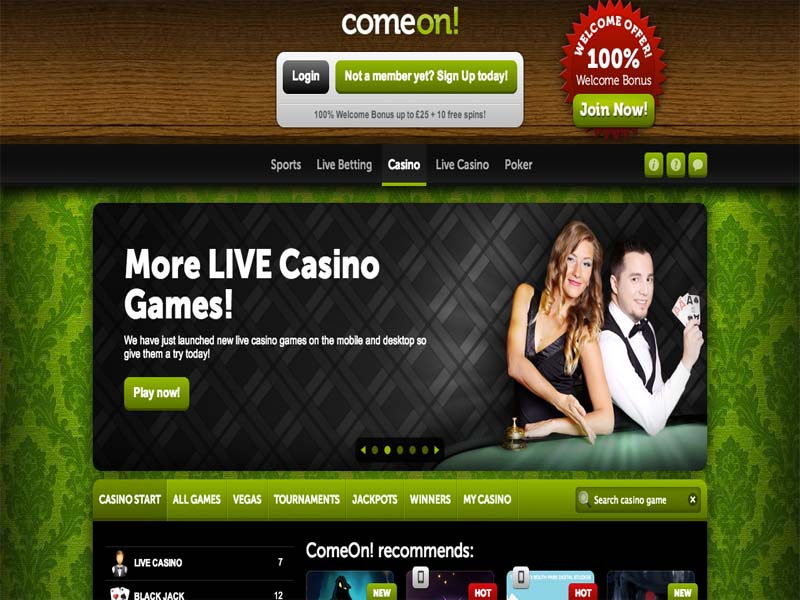 Casino preview image ComeOn Casino