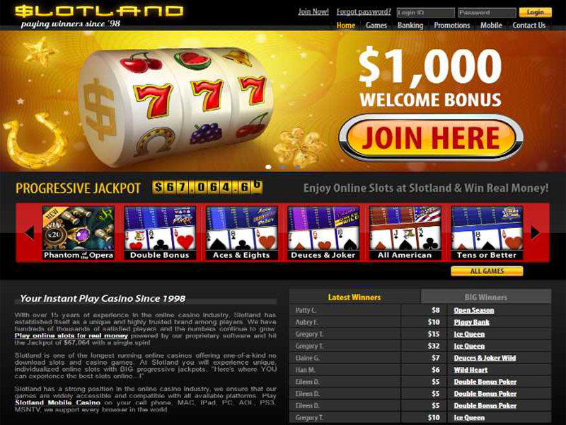 Casino preview image Slotland Casino