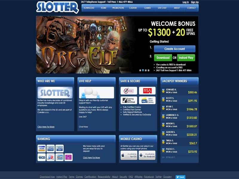 Casino preview image Slotter Casino