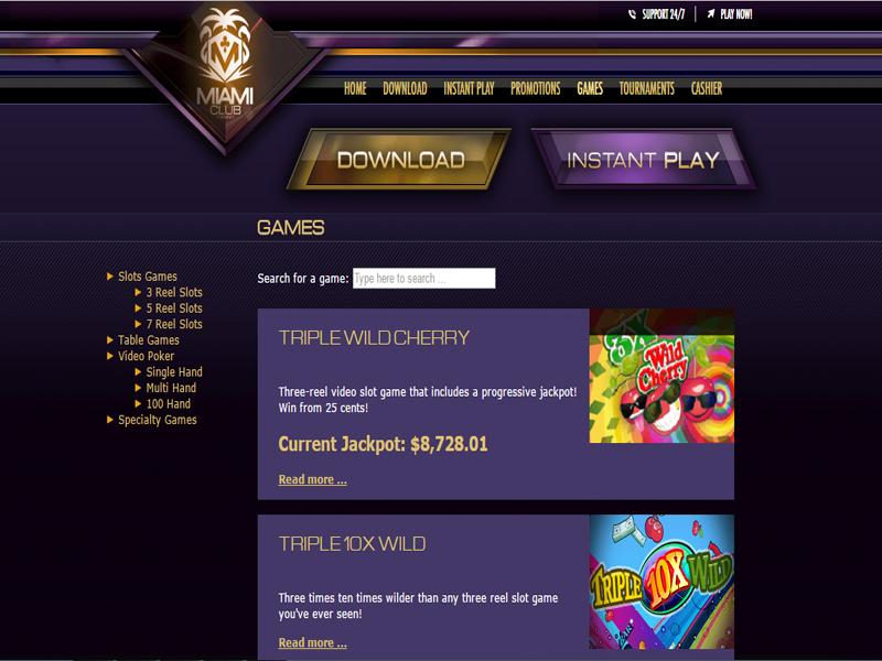 Casino preview image Miami Club Casino