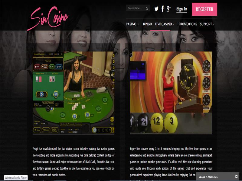 Casino preview image SinCasino