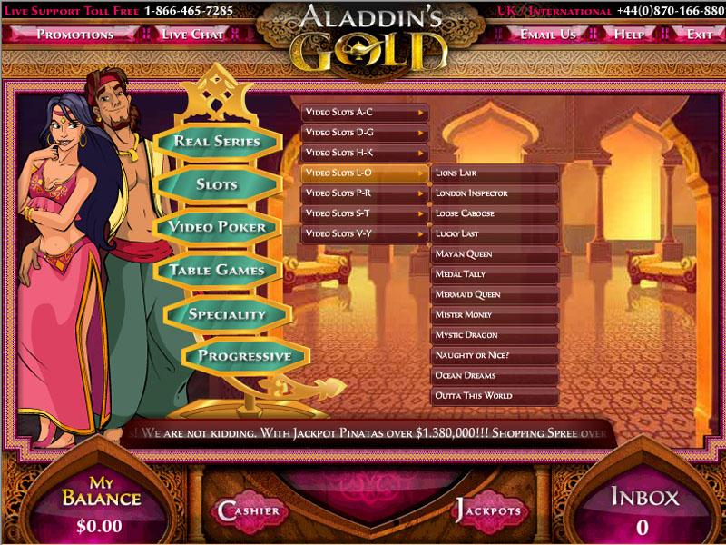 Casino preview image Aladdins Gold Casino