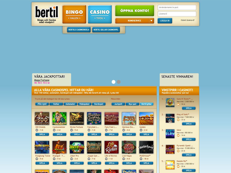 Casino preview image Bertil Casino