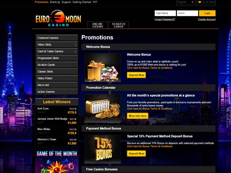 Casino preview image Euromoon Casino