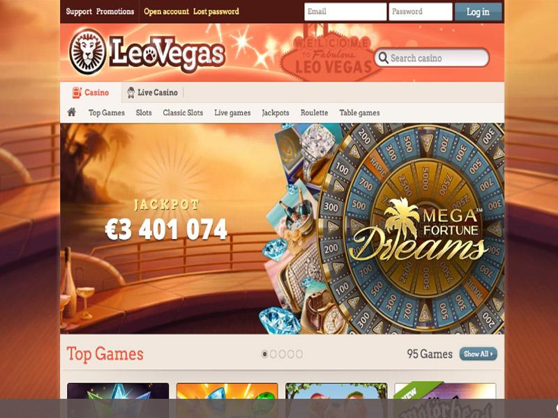 Casino preview image LeoVegas Casino