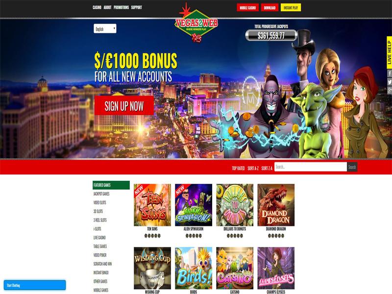 Casino preview image Vegas2Web Casino