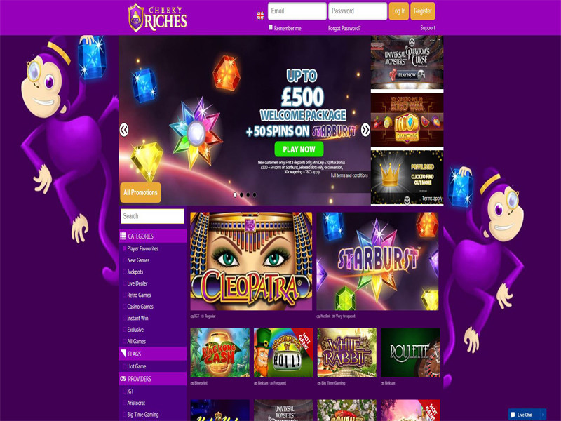 Casino preview image Cheeky Riches Casino