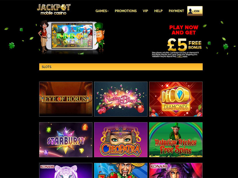 Casino preview image Jackpot Mobile Casino