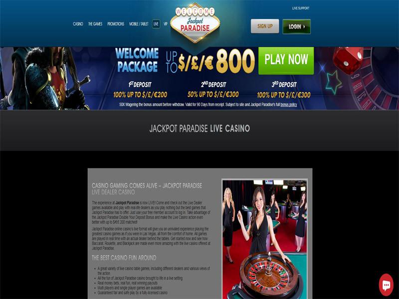 Casino preview image Jackpot Paradise Casino