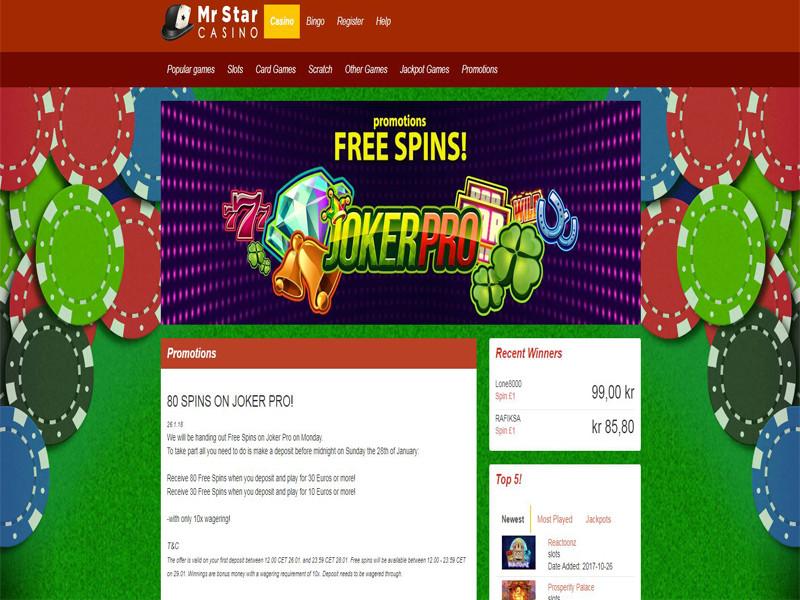 Casino preview image Mr Star Casino