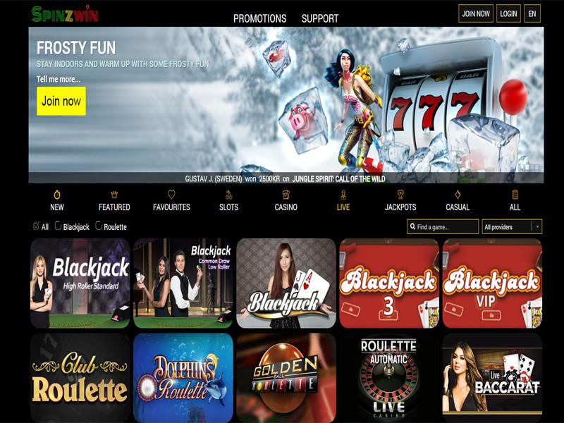 Casino preview image Spinzwin Casino
