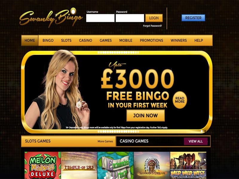 Casino preview image Swanky Bingo Casino