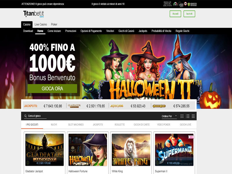 Casino preview image Titanbet.it Casino