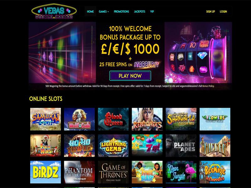 Casino preview image Vegas Mobile Casino