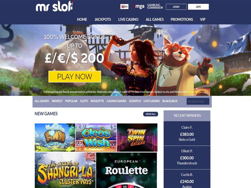 Casino preview image Mr Slot Casino