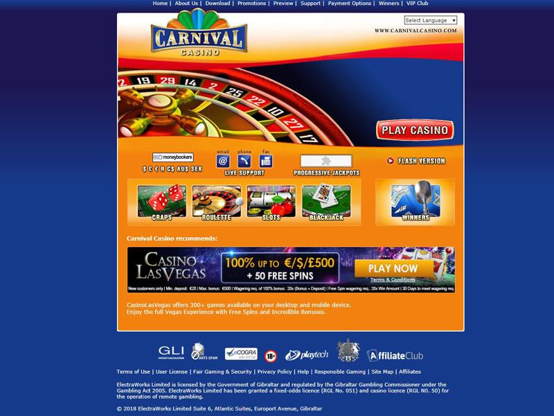 Casino preview image Carnival Casino