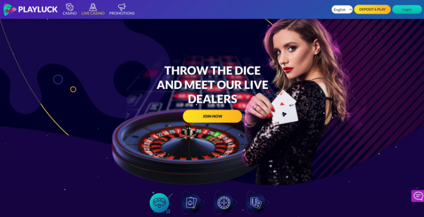 Casino preview image Playluck Casino Bonus + Free Spins for UK Players